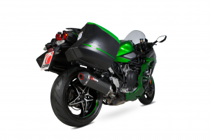 Scorpion Slip-On uitlaat Serket Parallel Carbon voor Kawasaki Ninja H2-SX / H2-SX SE