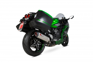 Scorpion Slip-On uitlaat Serket Parallel Titanium voor Kawasaki Ninja H2-SX / H2-SX SE