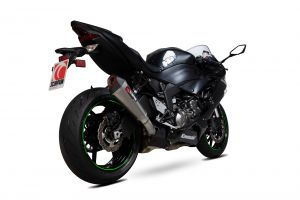 Scorpion Slip-On uitlaat Serket Taper Titanium voor Kawasaki Ninja ZX-6R / Ninja ZX-636