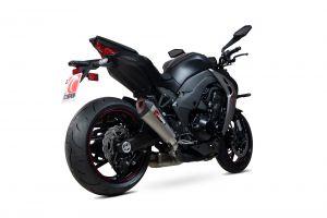 Scorpion Slip-On uitlaat Serket Taper Titanium voor Kawasaki Z1000