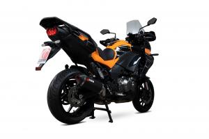 Scorpion Slip-On Serket Parallel RVS zwart voor Kawasaki Versys 1000 / SE / Tourer / GT
