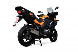 Scorpion Slip-On uitlaat Serket Parallel Titanium voor Kawasaki Versys 1000 / SE / Tourer / GT