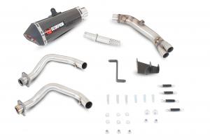 Scorpion Volledig systeem Serket Taper Carbon voor Kawasaki ER6 F/N