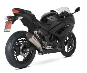 Scorpion Slip-On uitlaat Serket Taper RVS voor Kawasaki Ninja 300 2012-16 / Z300 2015-17