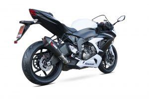 Scorpion Slip-On uitlaat Serket Taper Carbon voor Kawasaki Ninja ZX-6R / Ninja ZX-636