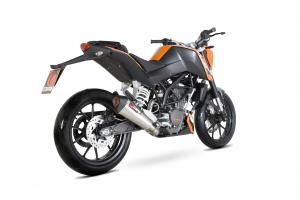 Scorpion Slip-On uitlaat Serket Taper RVS voor KTM 125 Duke 2011-16 / 200 Duke 2012-16