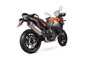 Scorpion Slip-On uitlaat Serket Parallel Titanium voor KTM 1090 Adventure