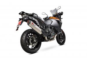Scorpion Slip-On uitlaat Serket Parallel Titanium voor KTM 1290 Super Adventure
