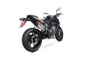 Scorpion Slip-On uitlaat Serket Parallel Titanium voor KTM 790 Duke