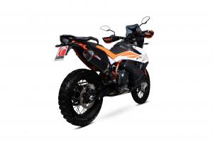 Scorpion Slip-On Serket Parallel RVS zwart voor KTM Adventure 790 / Adventure 790 R