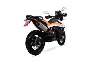 Scorpion Slip-On uitlaat Serket Parallel RVS voor KTM Adventure 790 / Adventure 790 R