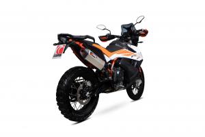Scorpion Slip-On uitlaat Serket Parallel Titanium voor KTM Adventure 790 / Adventure 790 R