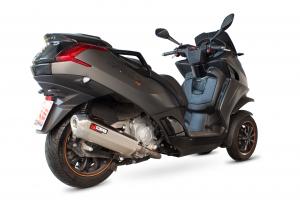 Scorpion Slip-On uitlaat Serket Parallel RVS voor Peugeot Metropolis 400