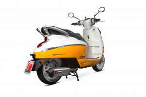Scorpion Volledig systeem Serket Parallel RVS voor Peugeot Django 125 / Django 150