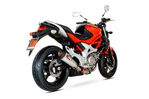 Scorpion Slip-On uitlaat Serket Taper RVS voor Suzuki Gladius 650