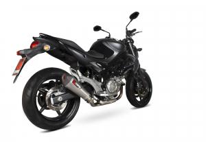 Scorpion Volledig systeem Serket Taper RVS voor Suzuki Gladius 650