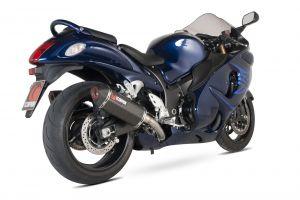 Scorpion Slip-On uitlaat Serket Parallel Carbon voor Suzuki GSX1300 R Hayabusa