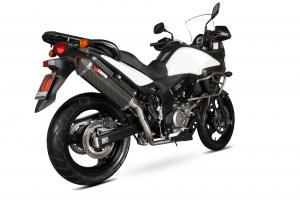 Scorpion Slip-On uitlaat Serket Parallel Carbon voor Suzuki DL650 V-Strom