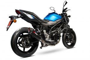 Scorpion Slip-On uitlaat Serket Taper Carbon voor Suzuki SV650 2016-2021 / SV650 X, 2018-2021