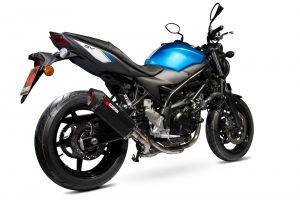 Scorpion Slip-On uitlaat Serket Parallel Carbon voor Suzuki SV650 2016-2021 / SV650 X, 2018-2021