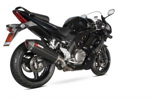 Scorpion Slip-On uitlaat Serket Parallel Carbon voor Suzuki SV650