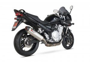 Scorpion Slip-On uitlaat Serket Parallel RVS voor Suzuki GSF650 Bandit
