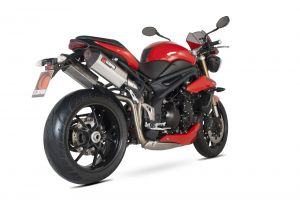 Scorpion Slip-On uitlaat Serket Parallel RVS voor Triumph Speed Triple 1050