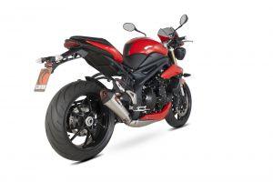 Scorpion Slip-On uitlaat Serket Taper RVS voor Triumph Speed Triple 1050