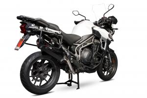 Scorpion Slip-On uitlaat Serket Parallel Carbon voor Triumph Tiger 1200 Explorer