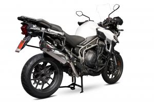 Scorpion Slip-On uitlaat Serket Parallel RVS voor Triumph Tiger 1200 Explorer