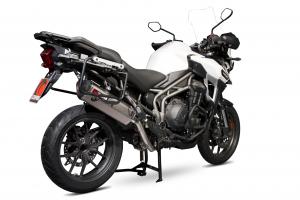 Scorpion Slip-On uitlaat Serket Parallel Titanium voor Triumph Tiger 1200 Explorer