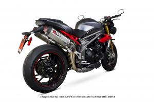 Scorpion Slip-On Serket Parallel RVS zwart voor Triumph Speed Triple 1050 R