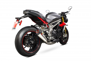 Scorpion Slip-On uitlaat Serket Taper RVS voor Triumph Speed Triple 1050 R