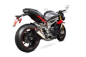 Scorpion Slip-On uitlaat Serket Taper Titanium voor Triumph Speed Triple 1050 R