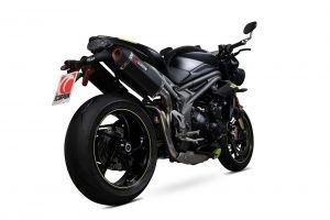 Scorpion Slip-On Serket Parallel RVS zwart voor Triumph Speed Triple R / Speed Triple S / Speed Triple RS