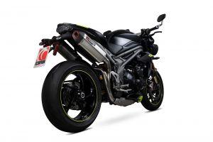 Scorpion Slip-On uitlaat Serket Parallel RVS voor Triumph Speed Triple R / Speed Triple S / Speed Triple RS