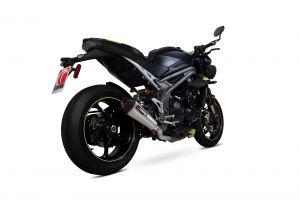 Scorpion Slip-On uitlaat Serket Taper RVS voor Triumph Speed Triple R / Speed Triple S / Speed Triple RS
