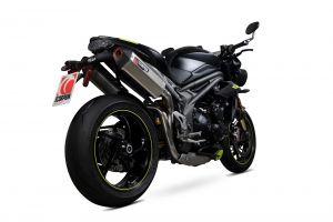 Scorpion Slip-On uitlaat Serket Parallel Titanium voor Triumph Speed Triple R / Speed Triple S / Speed Triple RS