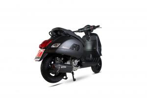 Scorpion Volledig systeem Serket Parallel RVS zwart voor Vespa GTS 125, 2009-17 / GTS250, 2005-13 / GTS300, 2008-18 / GTV250, 2006-13 / GTV300, 2010-18