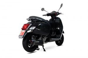 Scorpion Slip-On Serket Parallel RVS zwart voor Vespa GTS 125 / 300 HPE