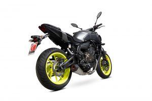 Scorpion Volledig systeem Serket Taper Titanium voor Yamaha MT-07