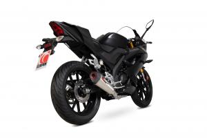 Scorpion Volledig systeem Serket Taper RVS voor Yamaha YZF-R125
