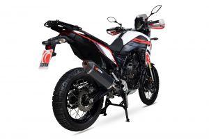 Scorpion Slip-On Serket Parallel RVS zwart voor Yamaha Tenere 700