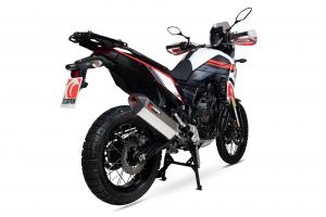 Scorpion Slip-On uitlaat Serket Parallel Titanium voor Yamaha Tenere 700