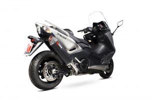 Scorpion Volledig systeem Serket Parallel RVS zwart voor Yamaha T-Max 530