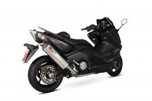 Scorpion Volledig systeem Serket Parallel RVS voor Yamaha T-Max 530