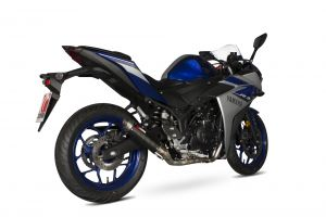 Scorpion Volledig systeem RP1-GP Carbon voor Yamaha YZF-R25, 2014-19 / YZF-R3, 2015-2021