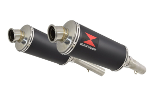 BWE Slip-On Zwart RVS Ovaal 300mm voor SL1000 Falco 1999-2005