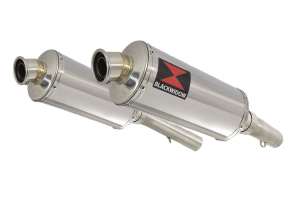 BWE Slip-On RVS Ovaal 300mm voor SL1000 Falco 1999-2005
