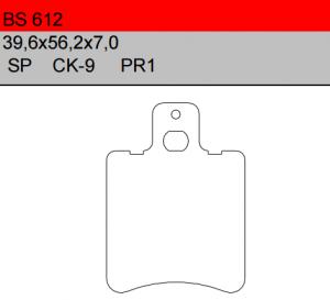 Gesinterde remblokken BS612